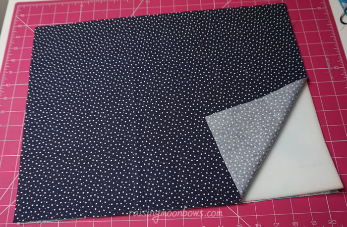 Laptop Sleeve showing outer, lining and foam sandwich