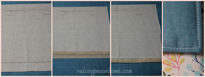 Steps for making the laptop sleeve flap