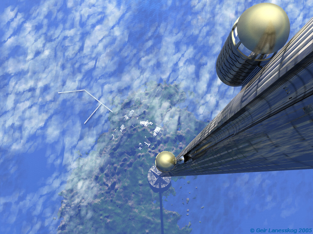 The space elevator was first imagined in 1895 but brought to life in a 1979 Sci-Fi Novel.