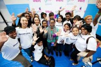 Trina with Dream Girls DMV at DC Ward 8 Boys and Girls Club for United Nations program Girl Up