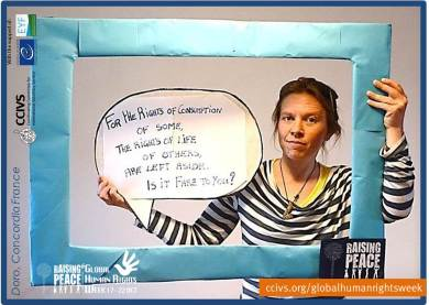 Activists in the Raising Peace Campaign. Doro from Concordia