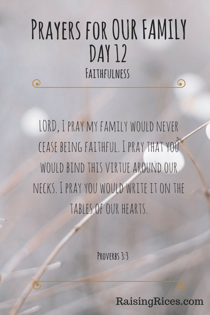 Prayers for OUR FAMILY - DAY 12-2
