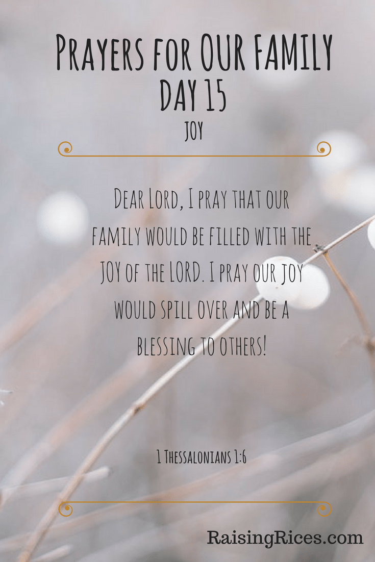 Prayers for OUR FAMILY - DAY 15