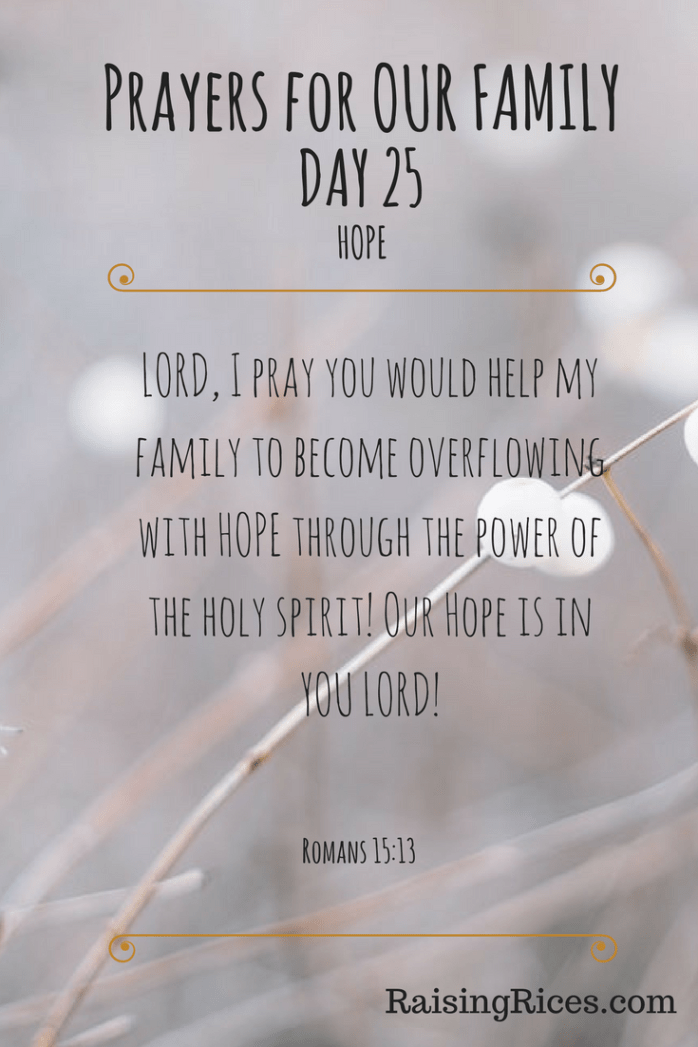 March 25th – Daily Prayers – Raising Rices