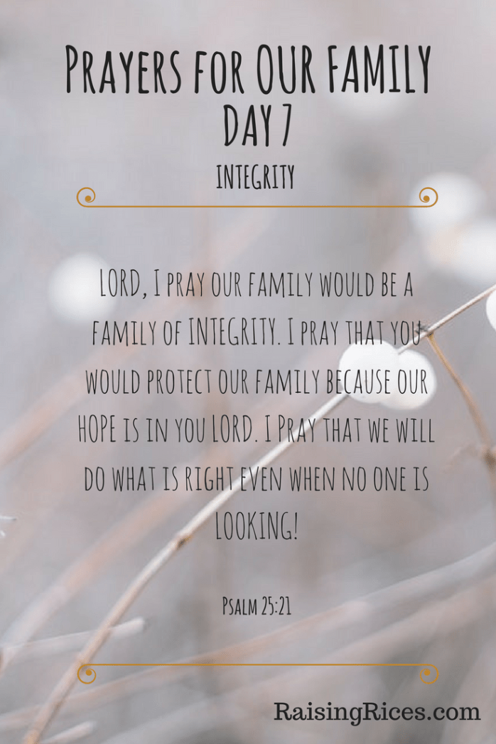 Prayers for OUR FAMILY - DAY 7