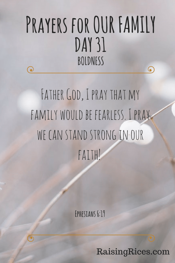 Prayers for OUR FAMILY - DAY 31