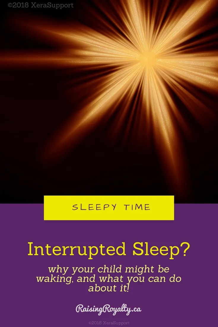 Is your sleep interrupted because your child is waking?