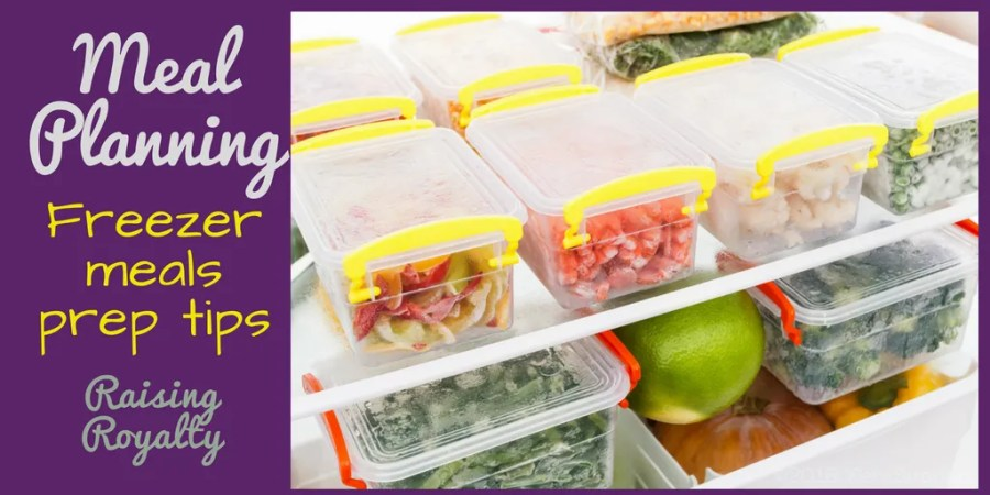 Freezer meals prep saves time, money and makes a mom's life easier.