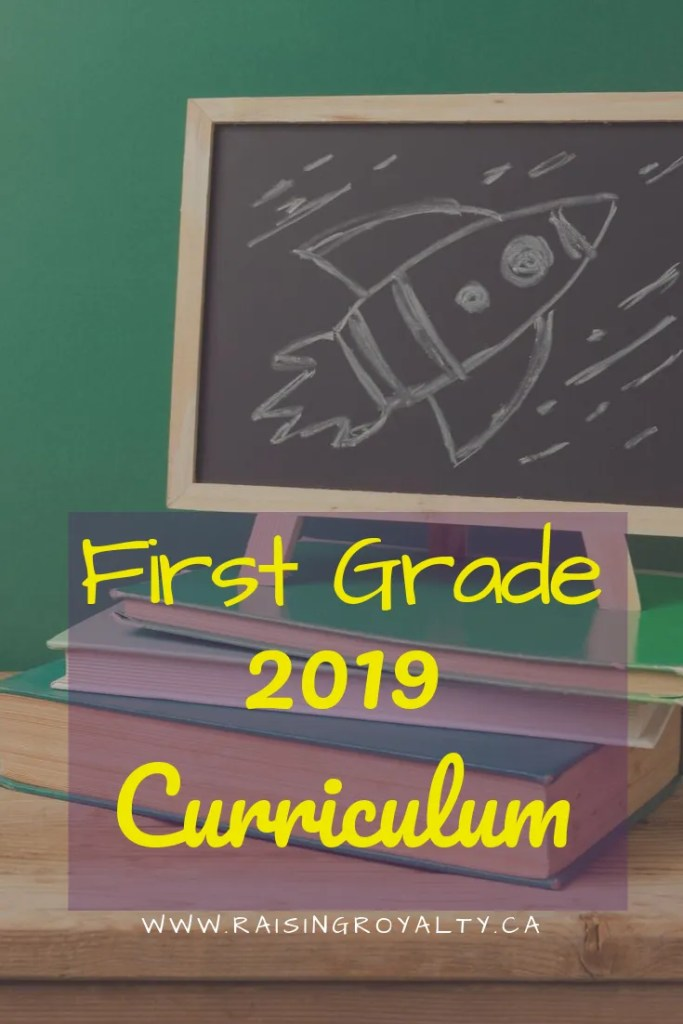 What does homeschool first grade curriculum look like? Well this is how we're doing first grade in 2019. Get my first grade curriculum list here.