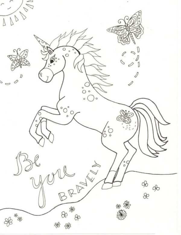 unicorn color pages # 35