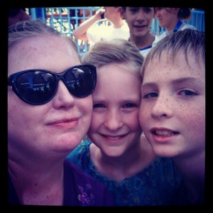 My 2 oldest kids and I last summer.