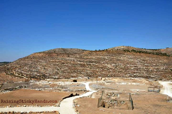 A view of the inner court and Holiest of Holies — at Ancient Shiloh.