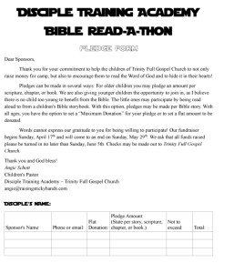 Disciple Training Academy Pledge Form-1