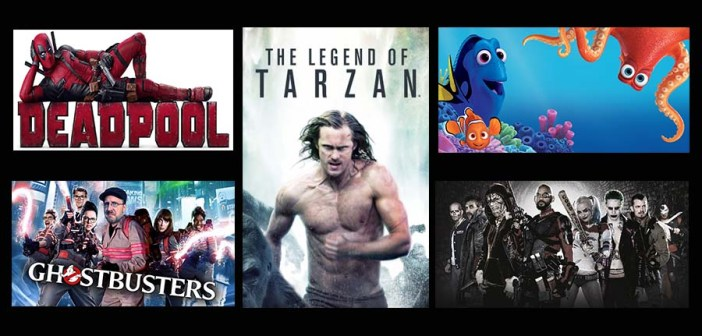 top 5 movies for 2016