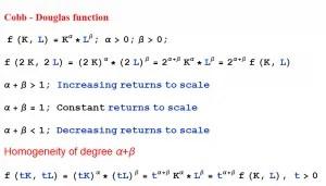 Cobb-Douglas production function