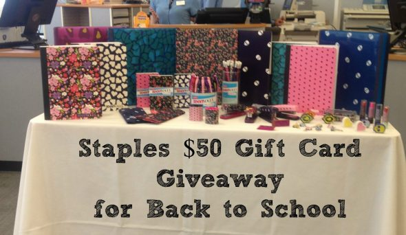 Staples $50 Gift Card Giveaway