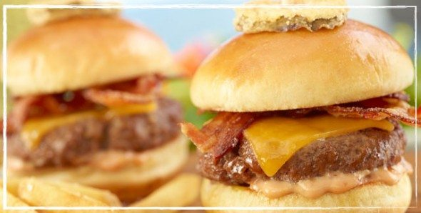 Mini sliders from Ruby Tuesdays