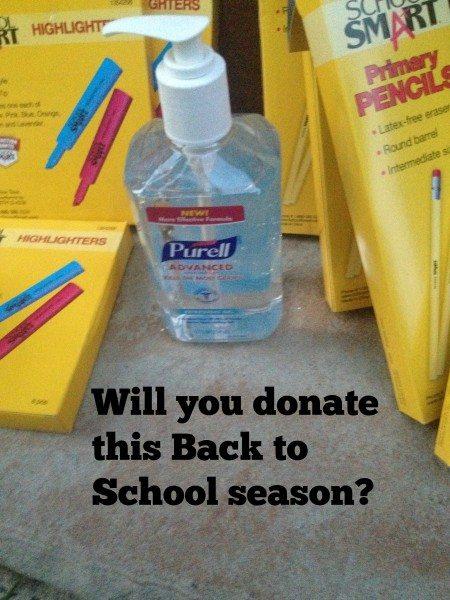 Donate School Supplies #PurellLendaHand