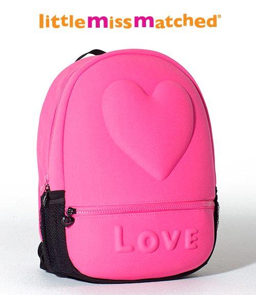 Neon Pink Mini Bubble Backpack