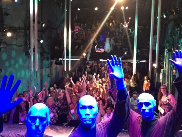Blue Man Group Blogger Bash Selfie
