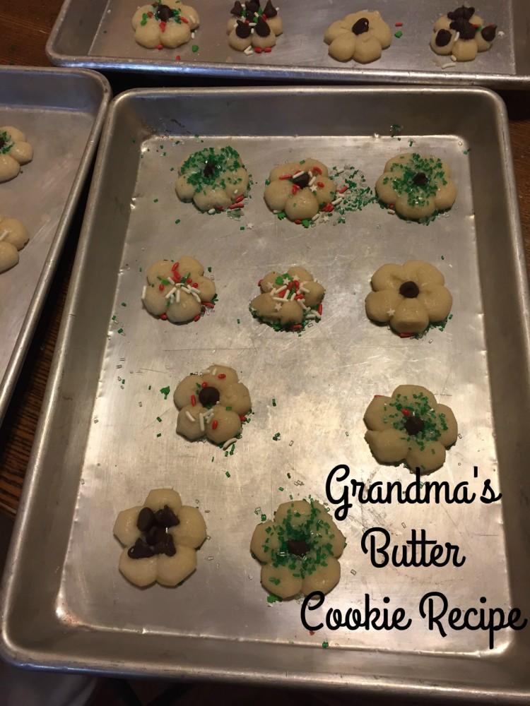 Grandma's Butter Cookie Recipe tin