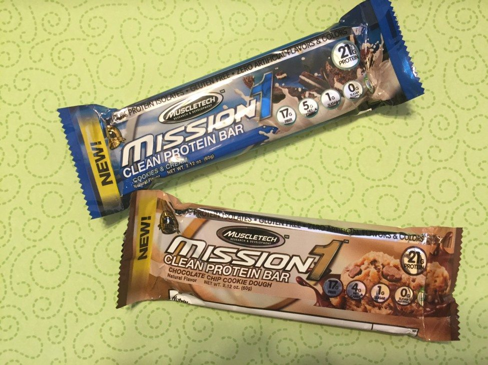 Mission 1 clean protein bars