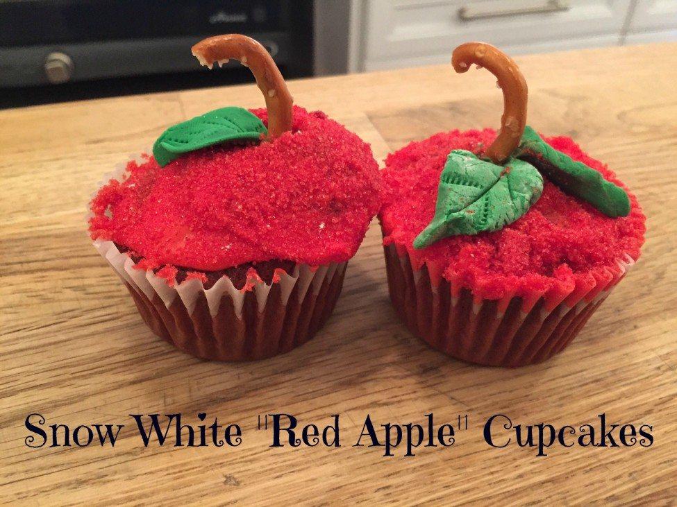 Snow White Red Apple Cupcakes