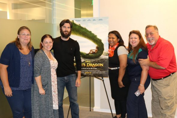 Petes Dragon Wes Bentley Group Photo