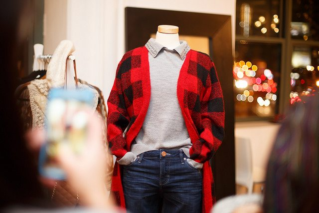 Flannel jacket on mannequin