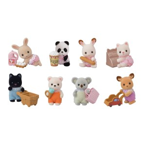 Variety of Calico Critters.