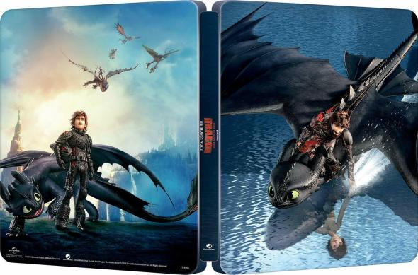 How to Train Your Dragon: The Hidden World Steelbook package.
