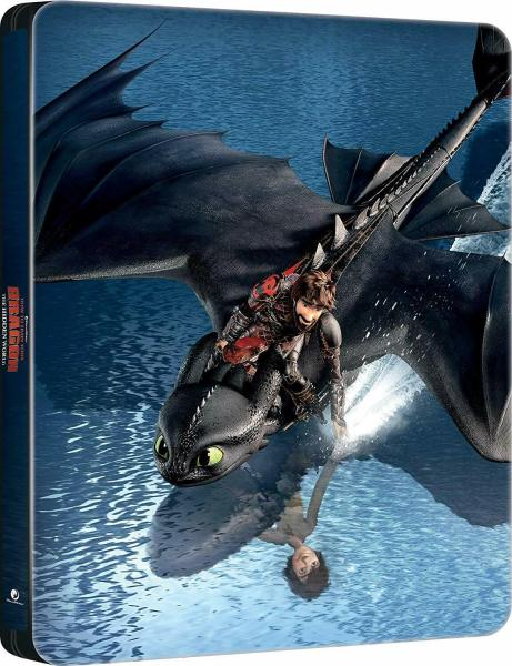 Front cover of How to Train Your Dragon: The Hidden World Steelbook.