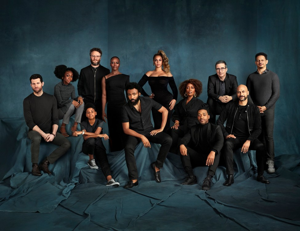 Group shot of the cast of The Lion King.