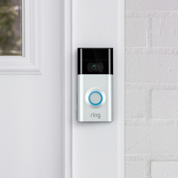 ring video doorbell 2 on home exterior.