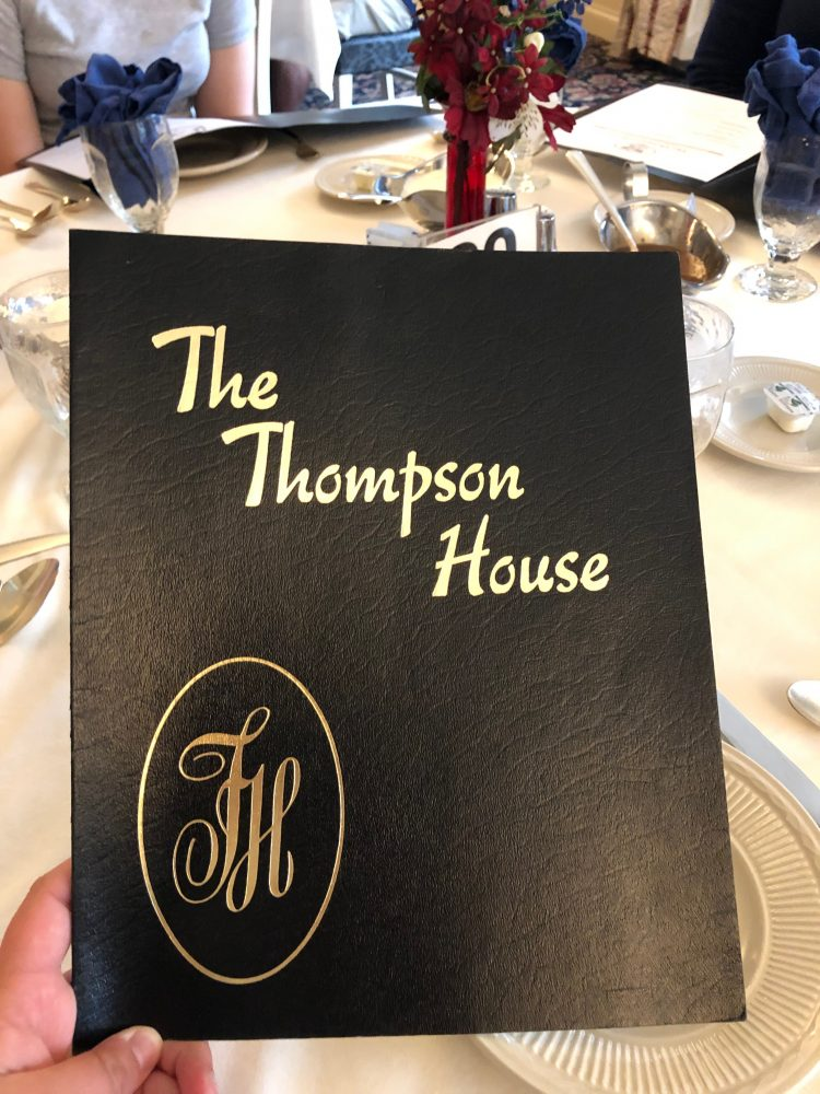 The Thompson House Menu
