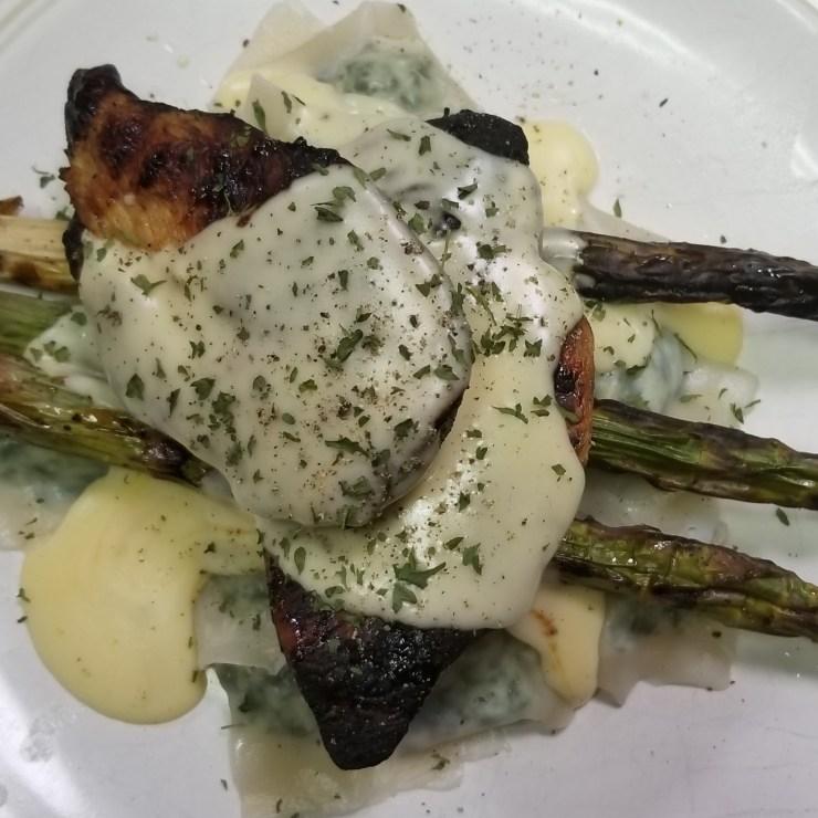 Chicken Asparagus Spinach Ravioli Cream Sauce