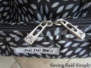 Ju-Ju-Be Be Prepared Diaper Bag zipper close up width=