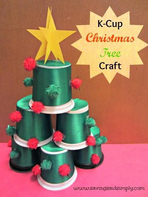 K-Cup Christmas tree craft