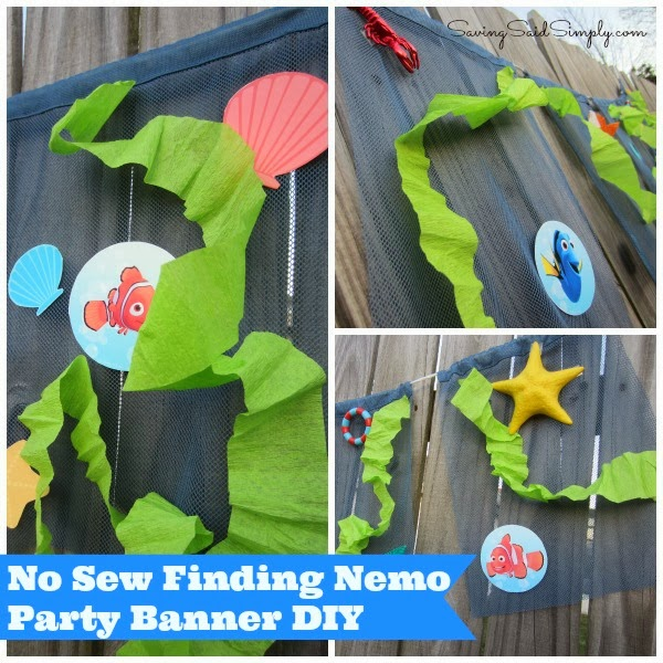 No sew Finding New Party Banner DIY