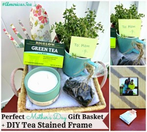 Perfect Mother's Day Gift Basket + DIY Tea Stained Frame #AmericasTea #shop