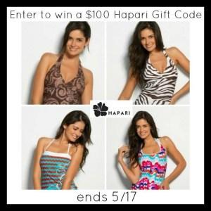Hapari Women's Swimwear $100 Gift Card Giveaway