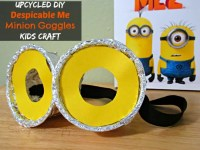 DIY Despicable Me Minion Goggles Kids Craft - Raising Whasians