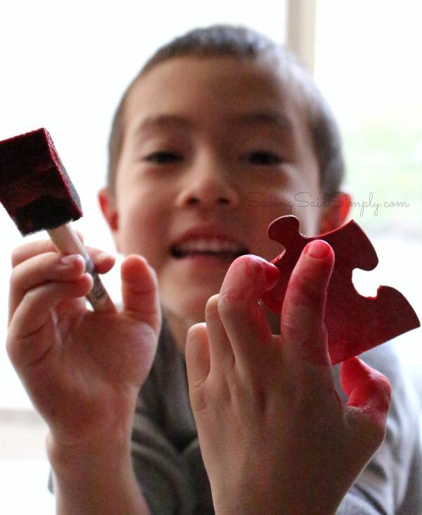 Easy valentines kids craft