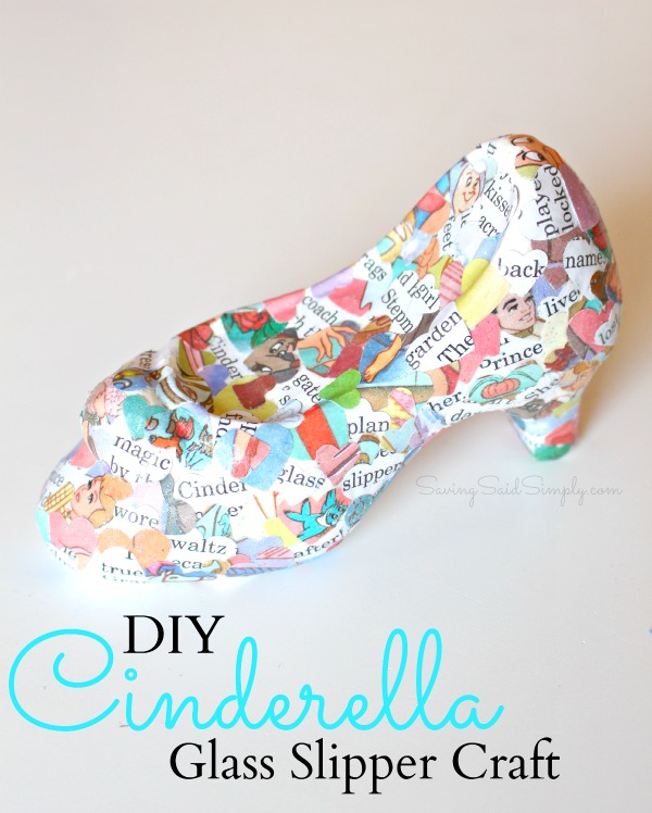DIY Cinderella glass slipper craft