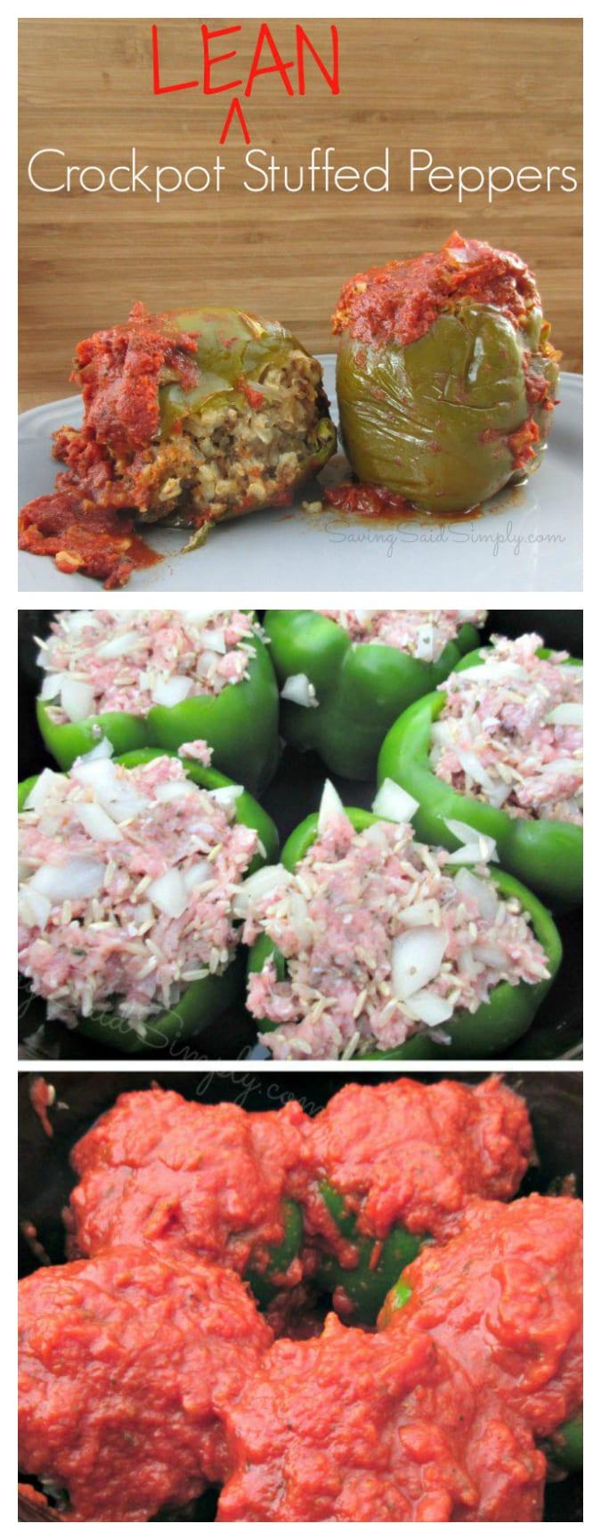 Crockpot stuffed peppers pinterest