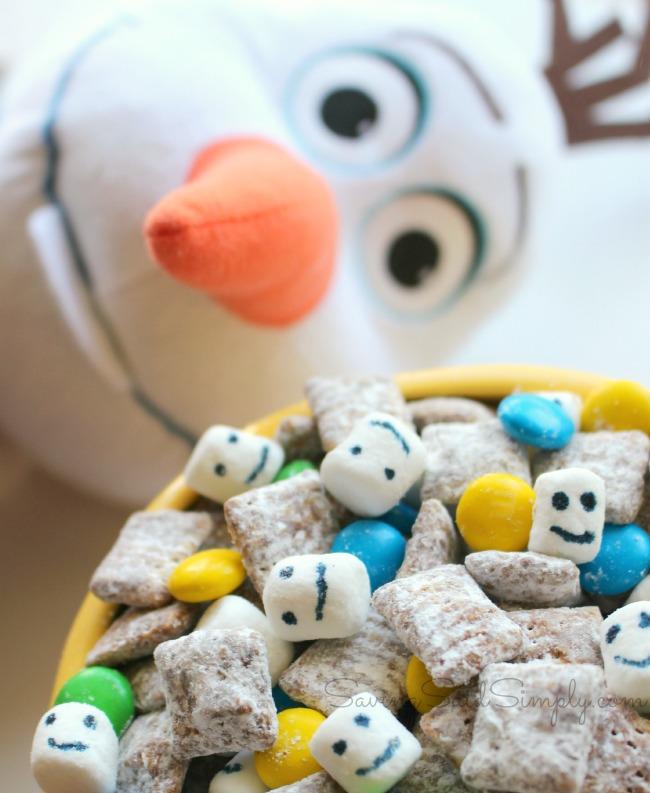 Disney frozen chex mix recipe