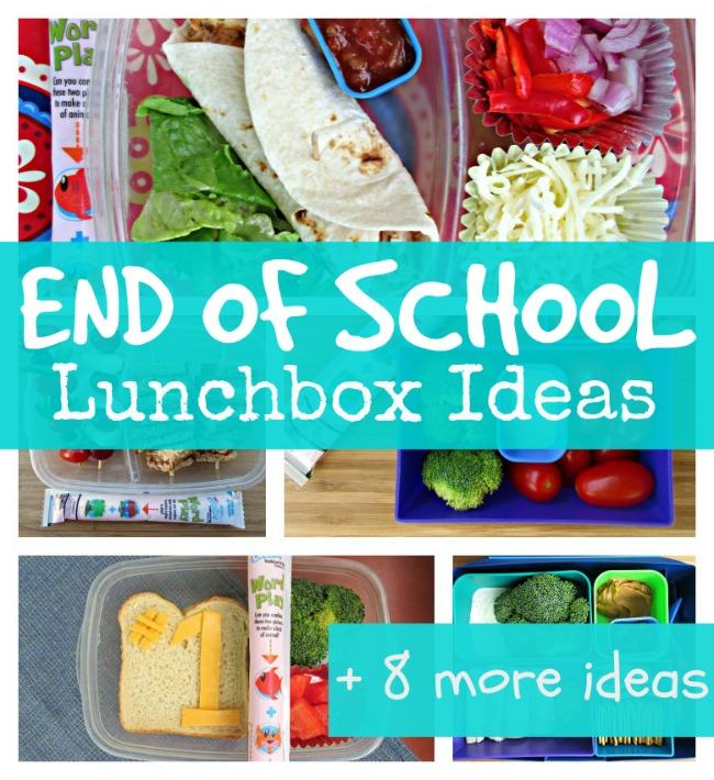 End of school lunchbox ideas