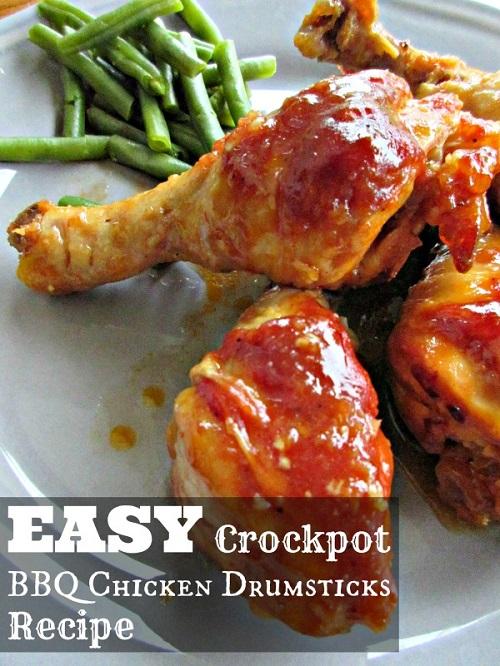 BBQ chicken legs crockpot recipe