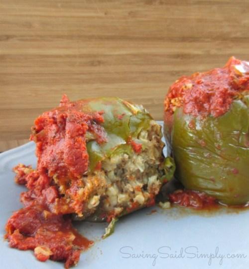 Stuffed peppers crockpot recipe
