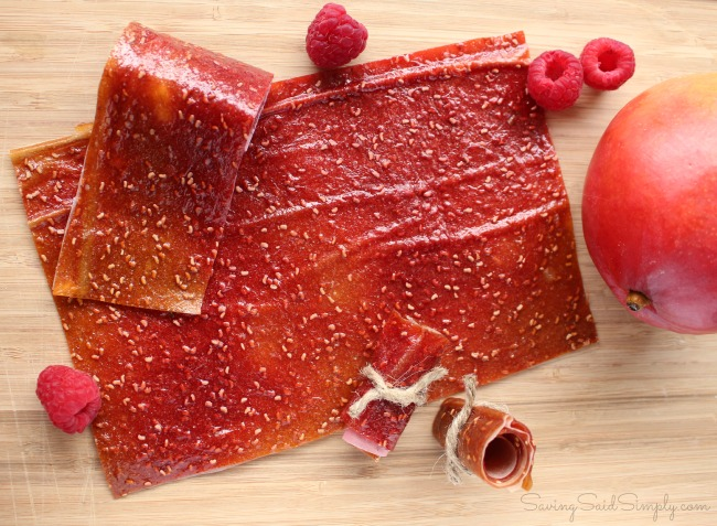 Diy fruit leather mango berry